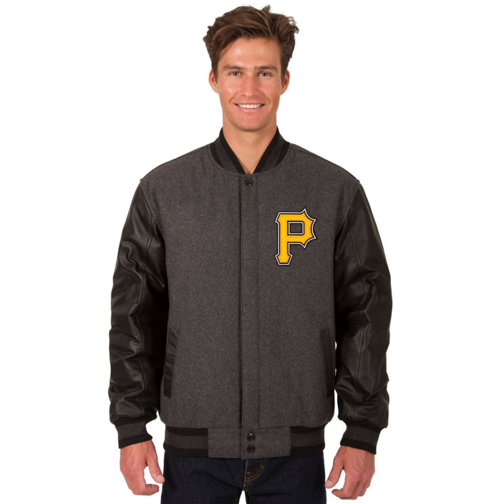 PITTSBURGH PIRATES Men's Wool and Leather Reversible One Logo Jacket S