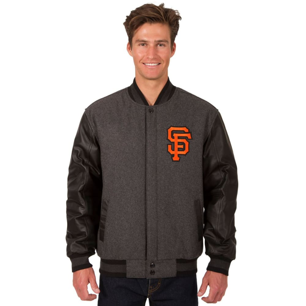 SAN FRANCISCO GIANTS Men's Wool and Leather Reversible One Logo Jacket S