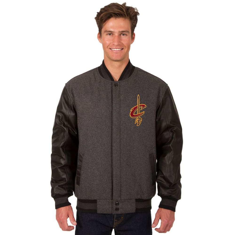 CLEVELAND CAVALIERS Men's Wool and Leather Reversible One Logo Jacket S