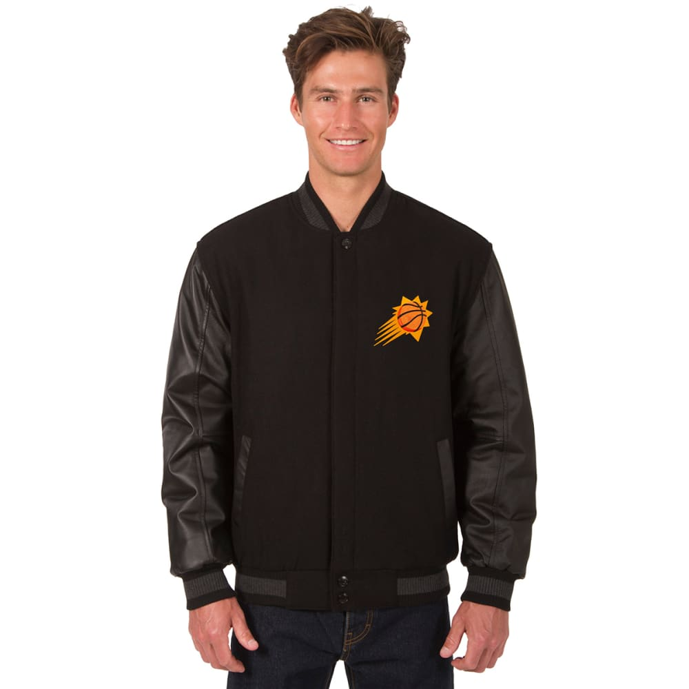PHOENIX SUNS Men's Wool and Leather Reversible One Logo Jacket S