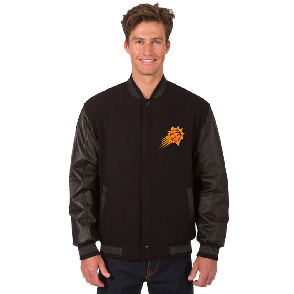 PHOENIX SUNS Men's Wool and Leather Reversible One Logo Jacket - BLACK