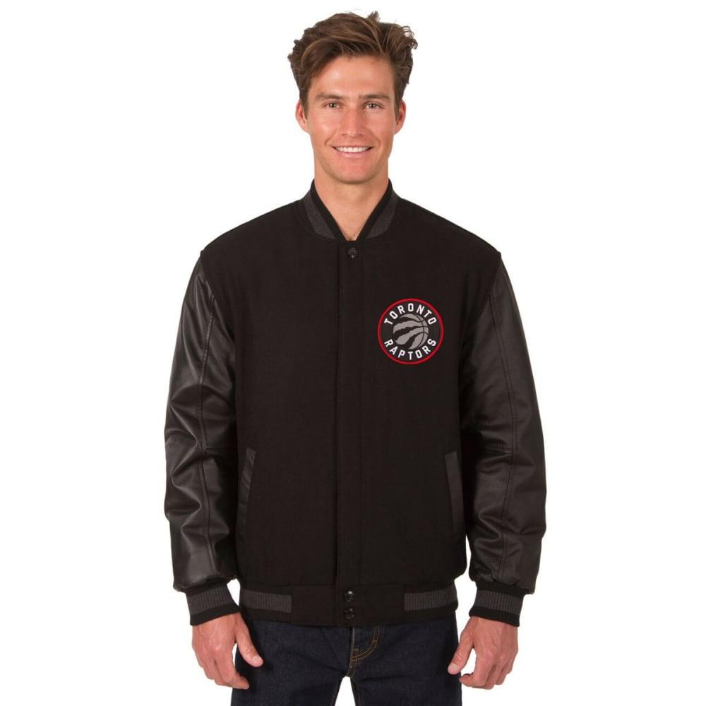 TORONTO RAPTORS Men's Wool and Leather Reversible One Logo Jacket - BLACK