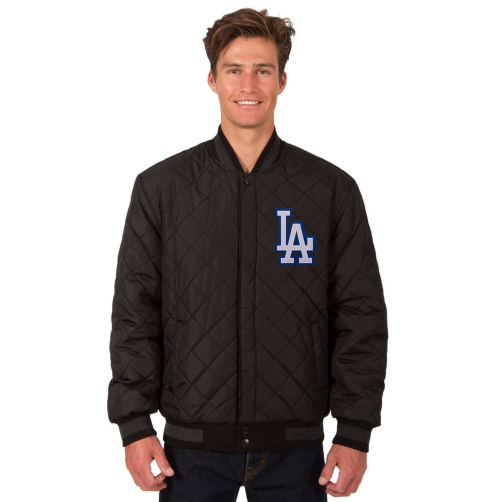 LOS ANGELES DODGERS Men's Wool and Leather Reversible One Logo Jacket - BLACK