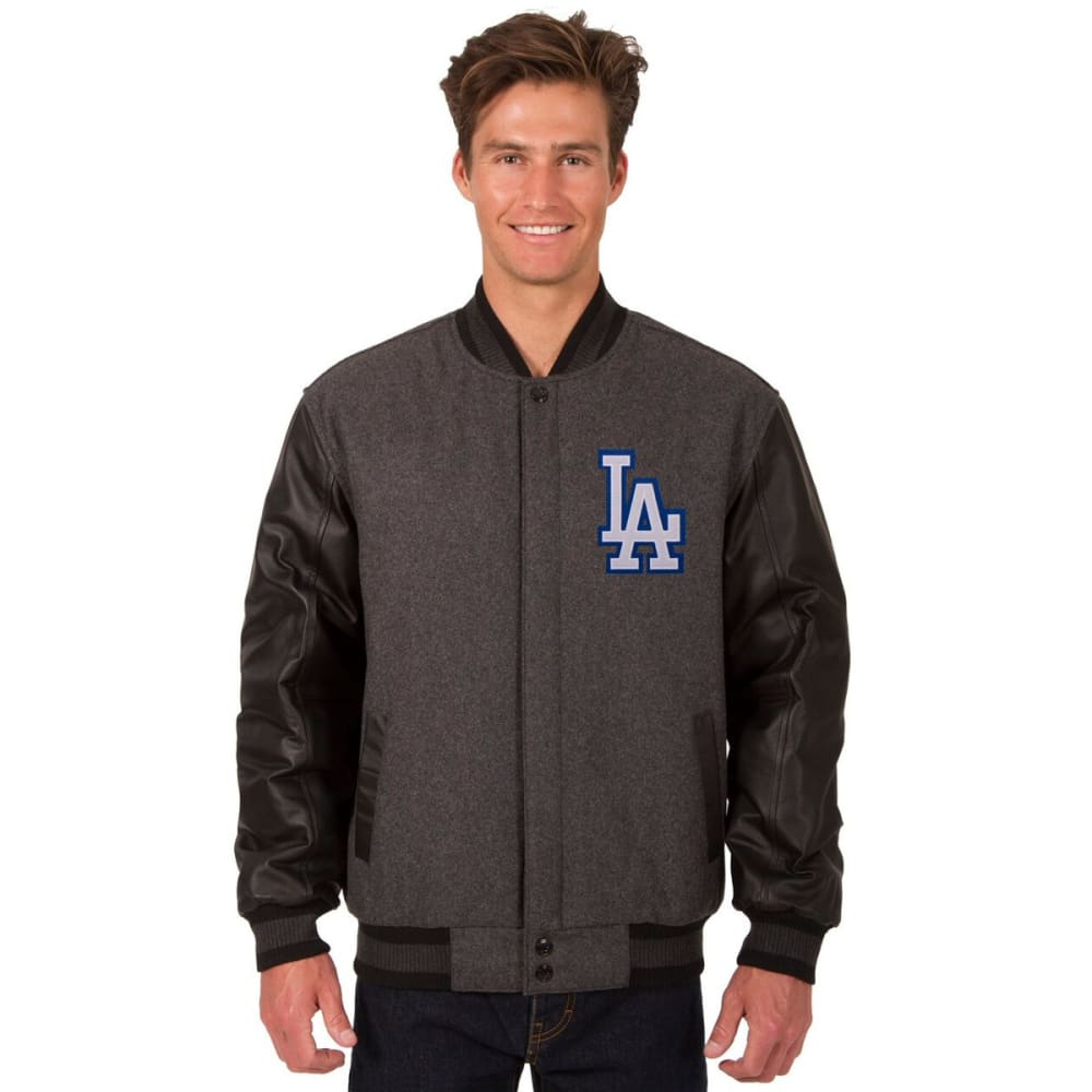 LOS ANGELES DODGERS Men's Wool and Leather Reversible One Logo Jacket S
