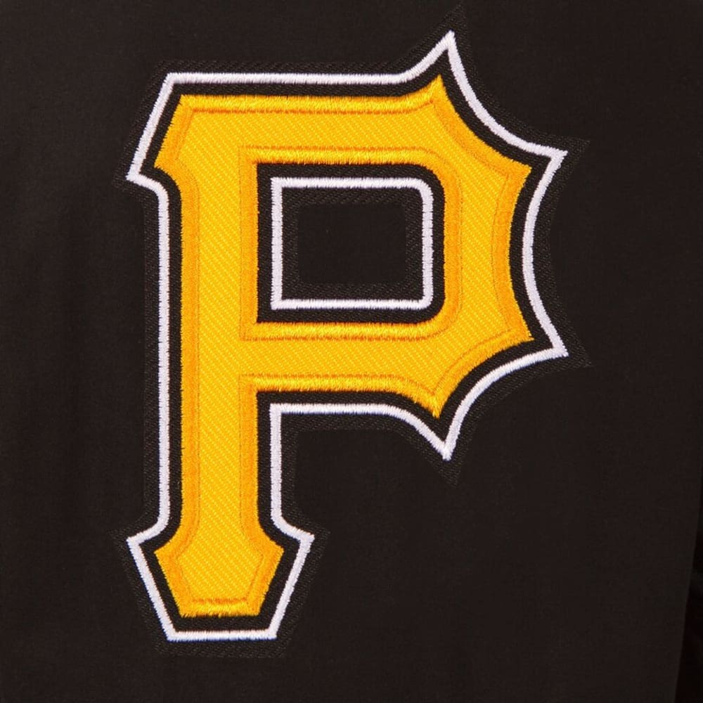 PITTSBURGH PIRATES Men's Wool and Leather Reversible One Logo Jacket - BLACK