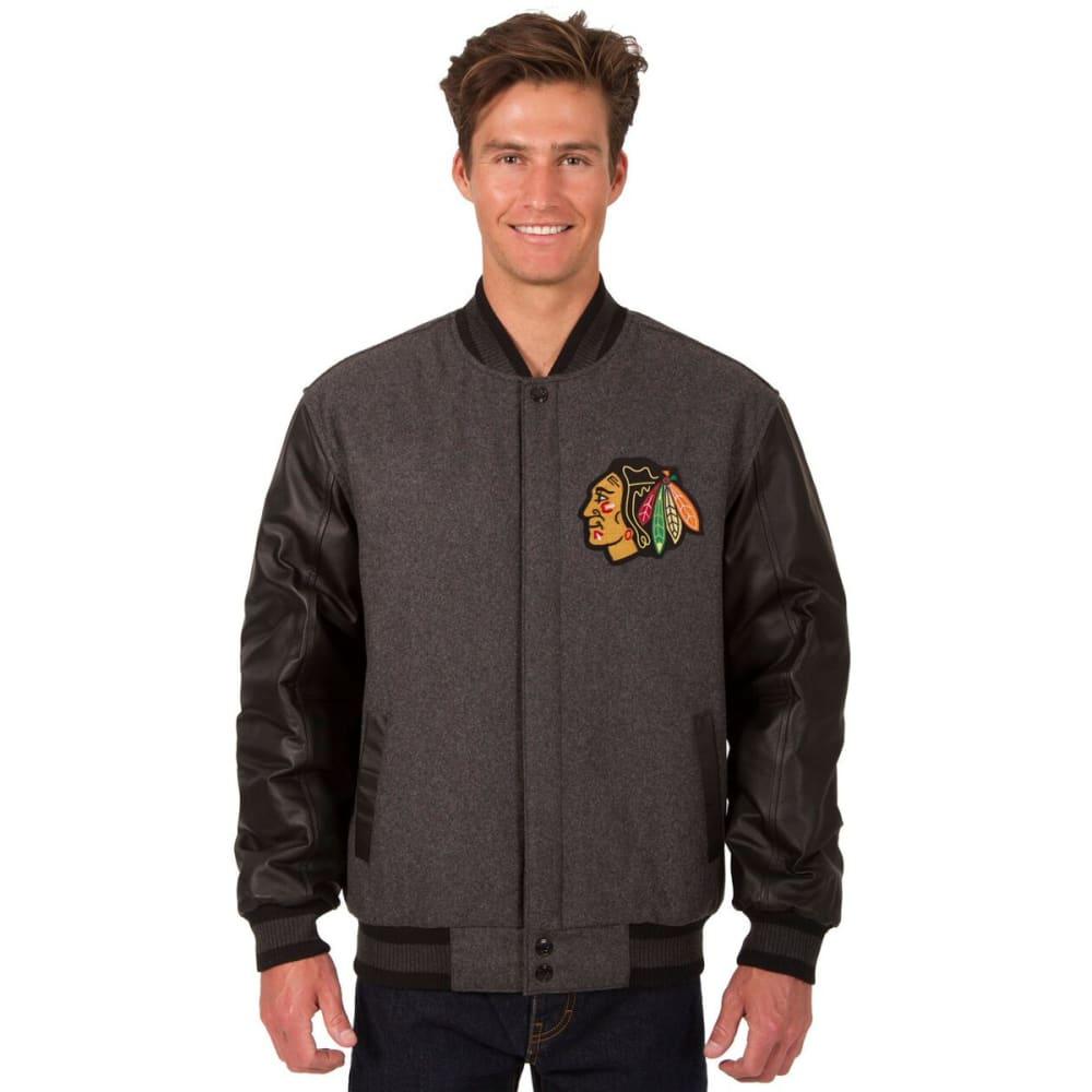 CHICAGO BLACKHAWKS Men's Wool and Leather Reversible Logo(2) Jacket S