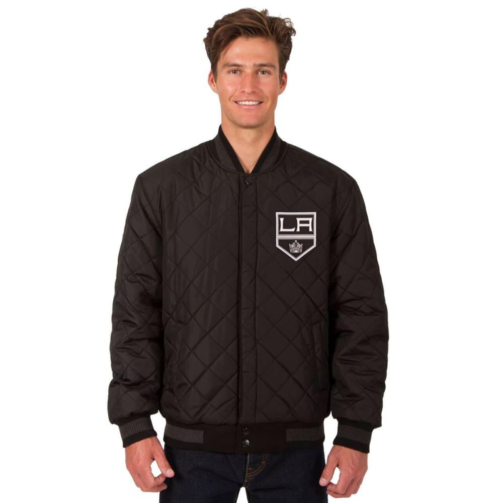 LOS ANGELES KINGS Men's Wool and Leather Reversible Logo(2) Jacket - BLACK