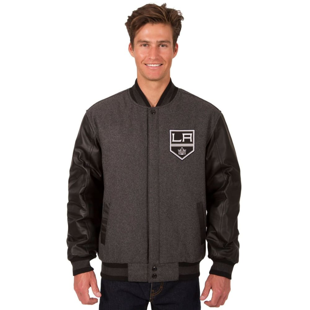 LOS ANGELES KINGS Men's Wool and Leather Reversible Logo(2) Jacket S