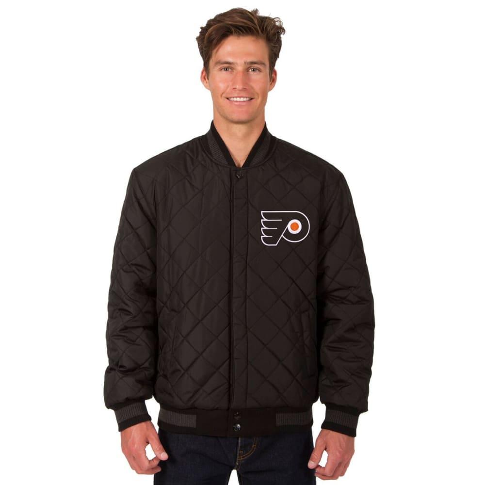 PHILADELPHIA FLYERS Men's Wool and Leather Reversible Logo(2) Jacket - BLACK