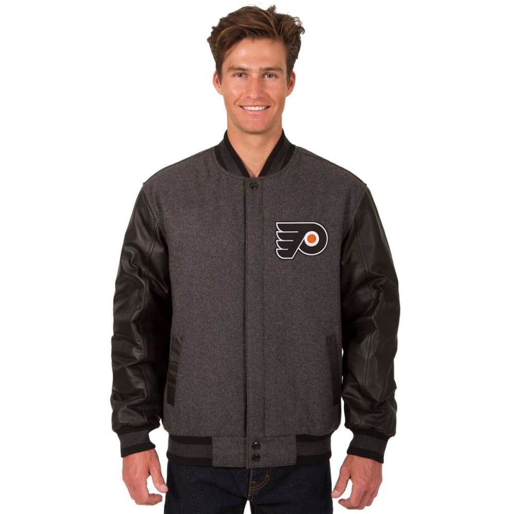 PHILADELPHIA FLYERS Men's Wool and Leather Reversible Logo(2) Jacket S