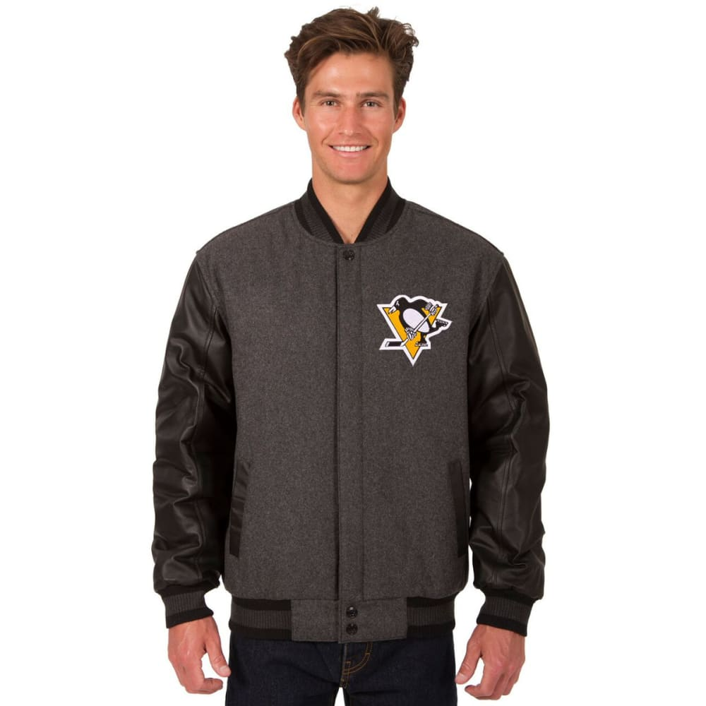 PITTSBURGH PENGUINS Men's Wool and Leather Reversible Logo(2) Jacket S