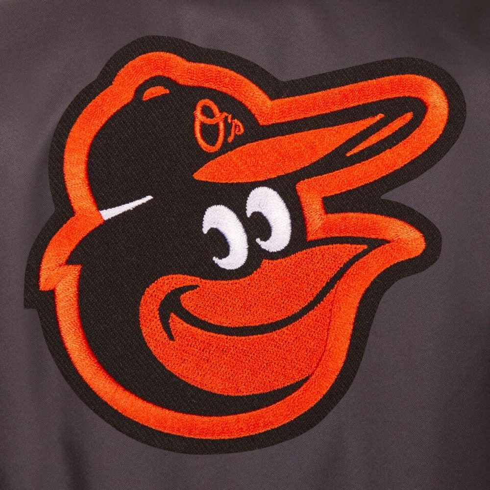 BALTIMORE ORIOLES Men's Poly Twill Logo Jacket - CHARCOAL