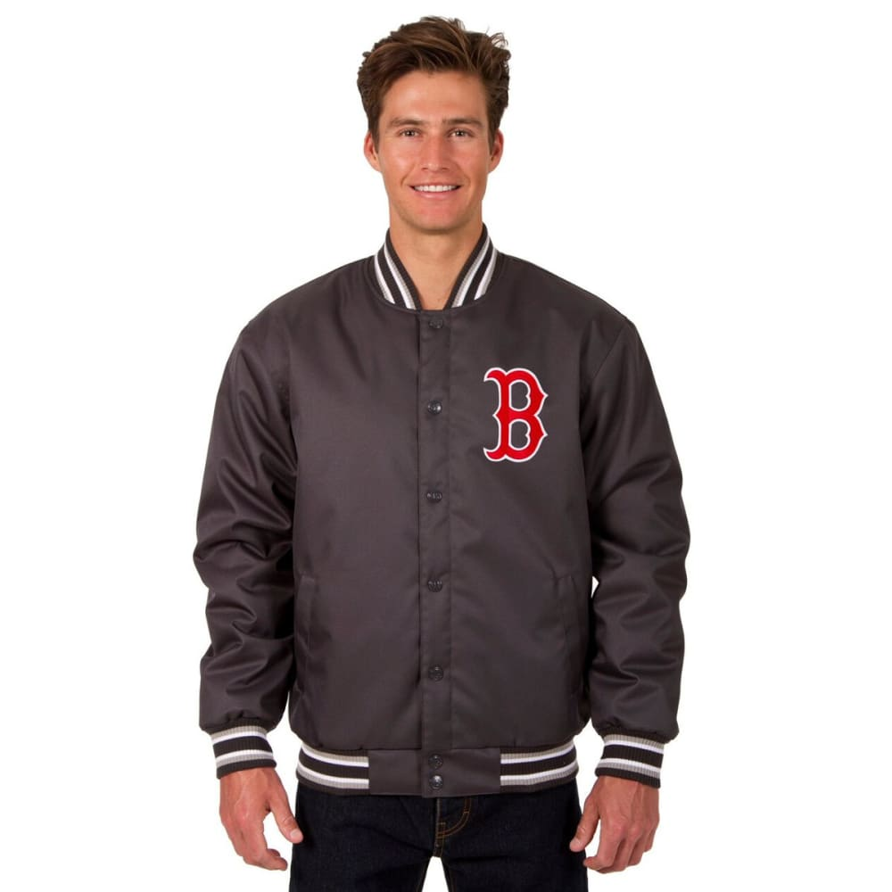 BOSTON RED SOX Men's Poly Twill Logo Jacket - CHARCOAL