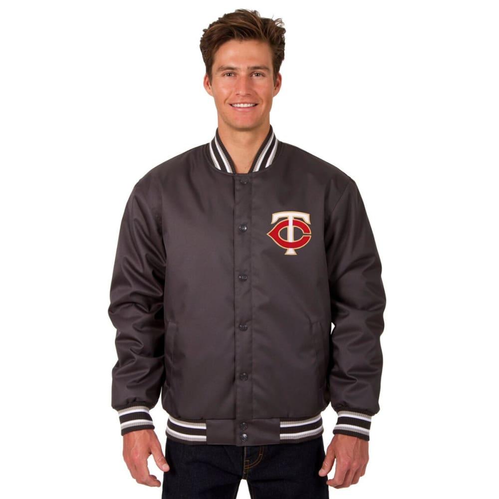 MINNESOTA TWINS Men's Poly Twill Logo Jacket - CHARCOAL
