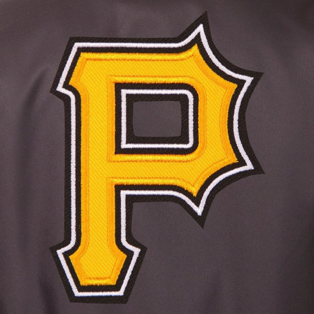 PITTSBURGH PIRATES Men's Poly Twill Logo Jacket - CHARCOAL