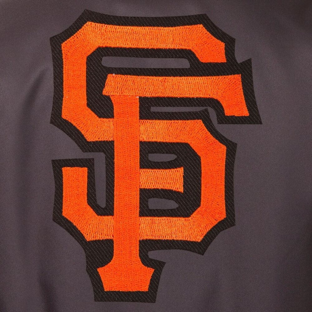 SAN FRANCISCO GIANTS Men's Poly Twill Logo Jacket - CHARCOAL