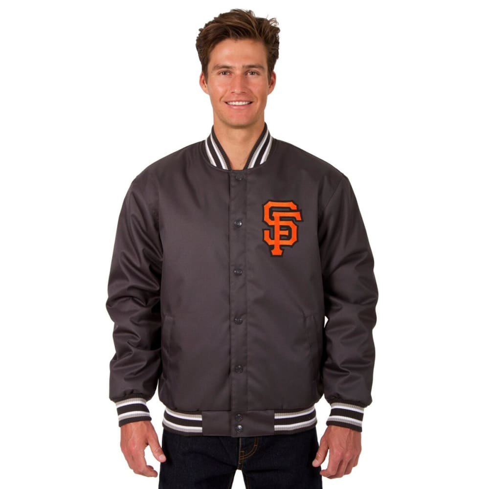 SAN FRANCISCO GIANTS Men's Poly Twill Logo Jacket - CHARCOAL