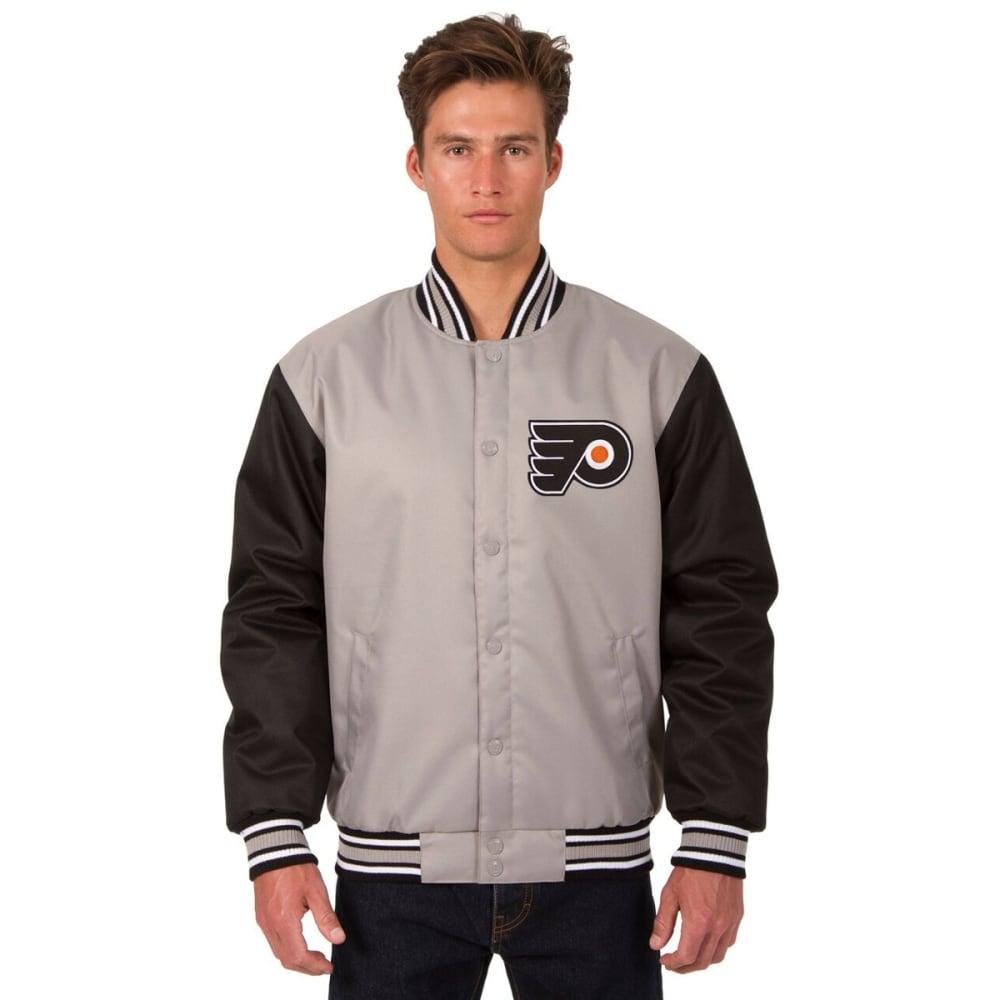 PHILADELPHIA FLYERS Men's Poly Twill Logo Jacket - GRAY-BLACK