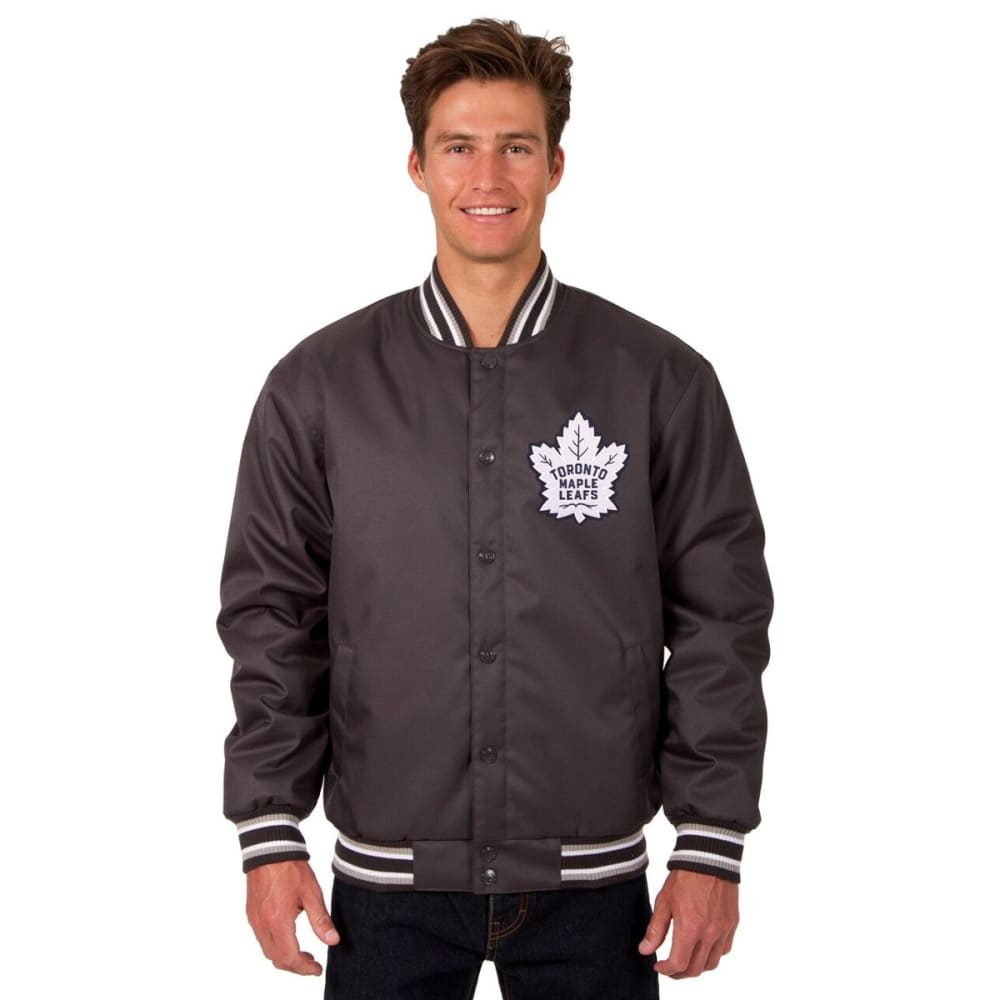 TORONTO MAPLE LEAFS Men's Poly Twill Logo Jacket - CHARCOAL