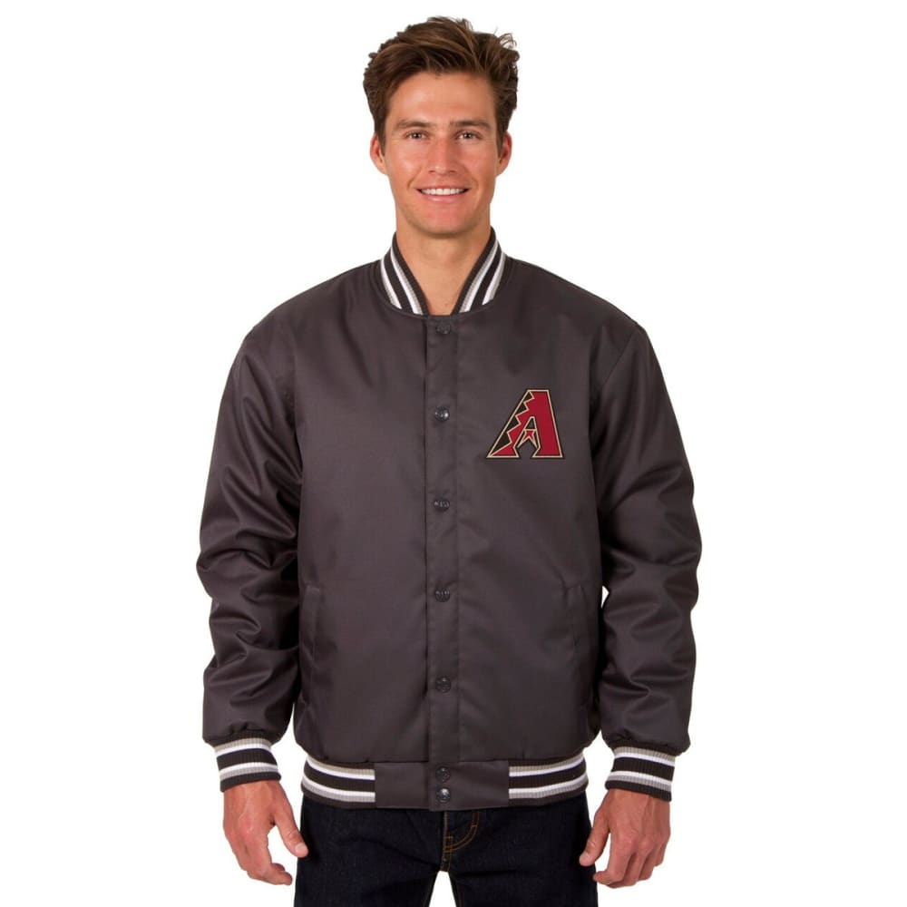 ARIZONA DIAMONDBACKS Men's Poly Twill Embroidered Jacket - CHARCOAL