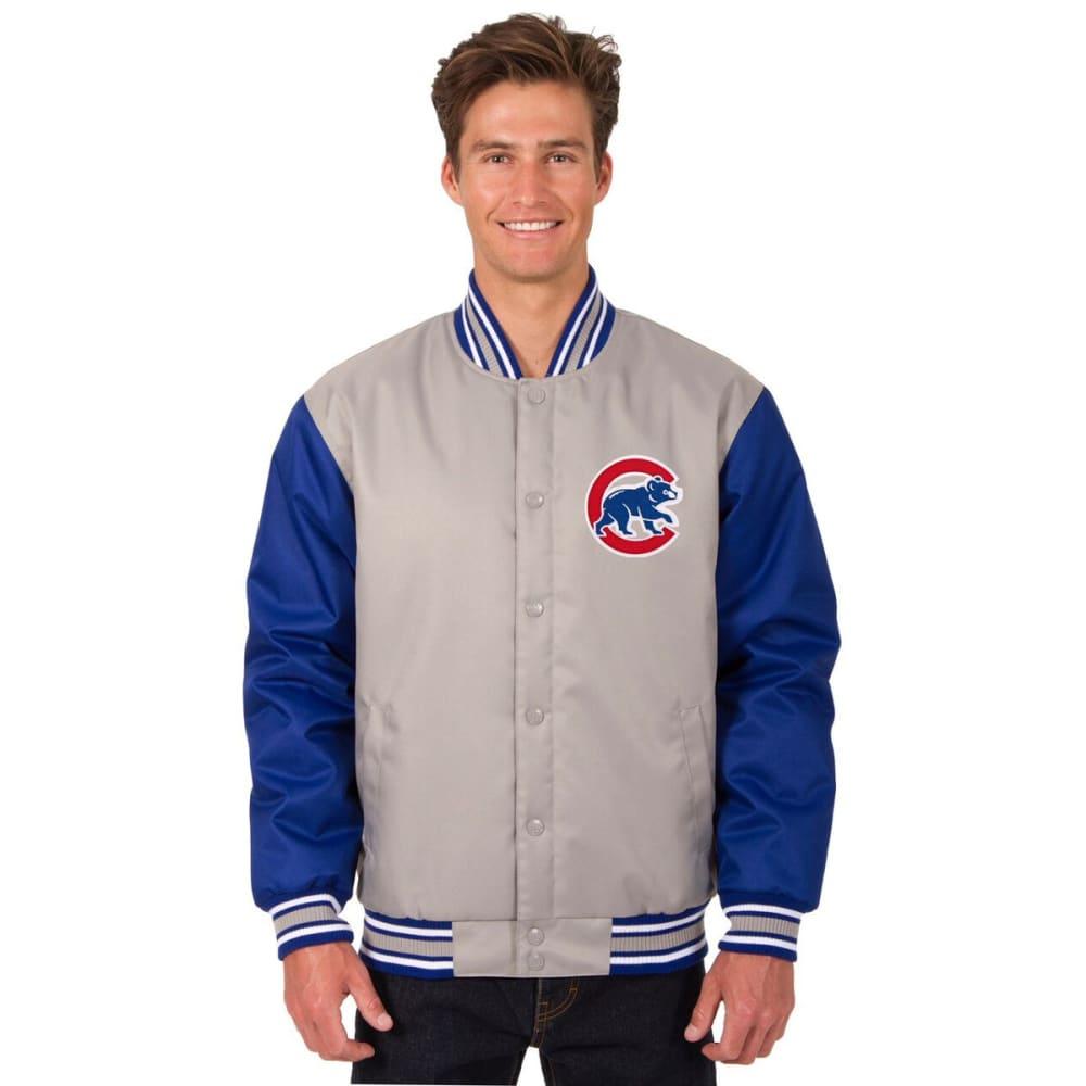 KANSAS CITY ROYALS Men's Poly Twill Embroidered Jacket - GRAY-ROYAL