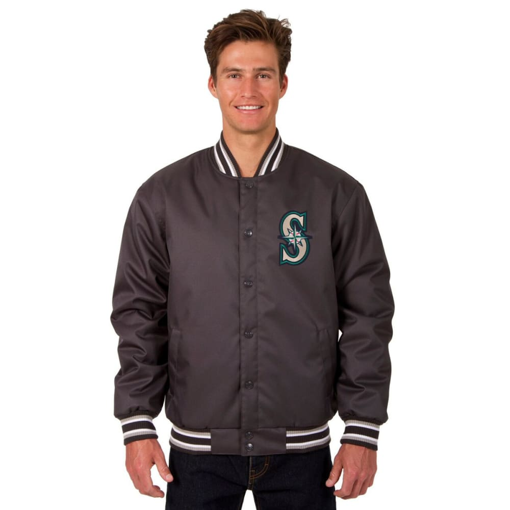 SEATTLE MARINERS Men's Poly Twill Embroidered Jacket - CHARCOAL