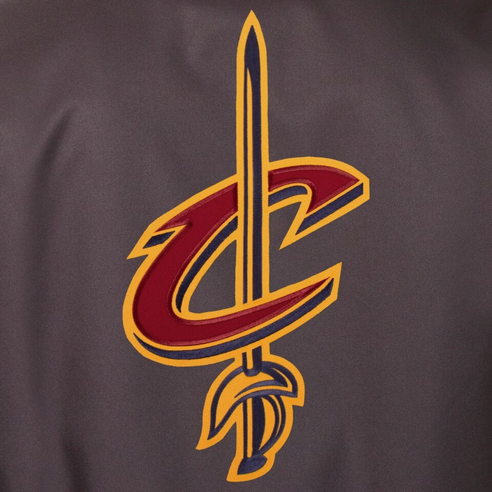 CLEVELAND CAVALIERS Men's Poly Twill Embroidered Jacket - CHARCOAL