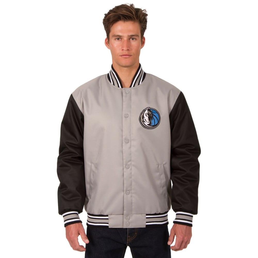 DALLAS MAVERICKS Men's Poly Twill Embroidered Jacket - GRAY-BLACK