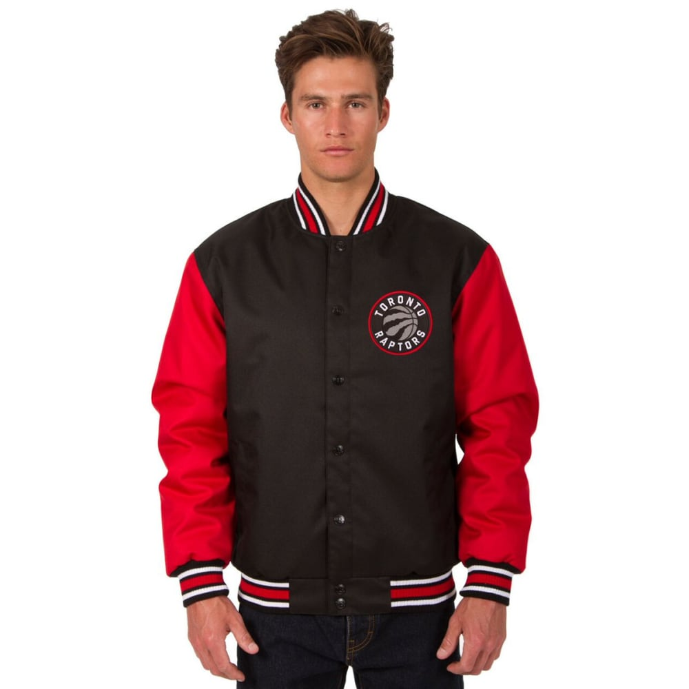 TORONTO RAPTORS Men's Poly Twill Embroidered Jacket - BLACK-RED