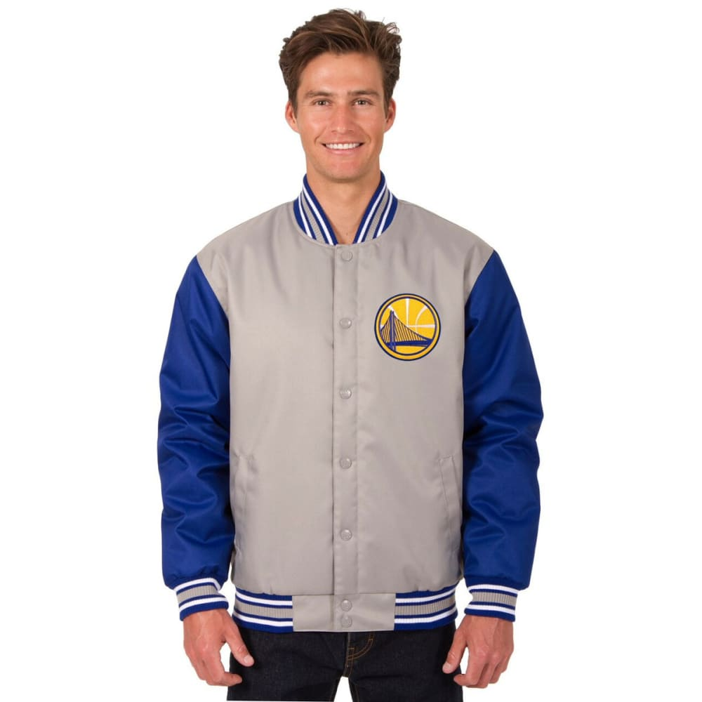 GOLDEN STATE WARRIORS Men's Poly Twill Embroidered Jacket - GRAY-ROYAL