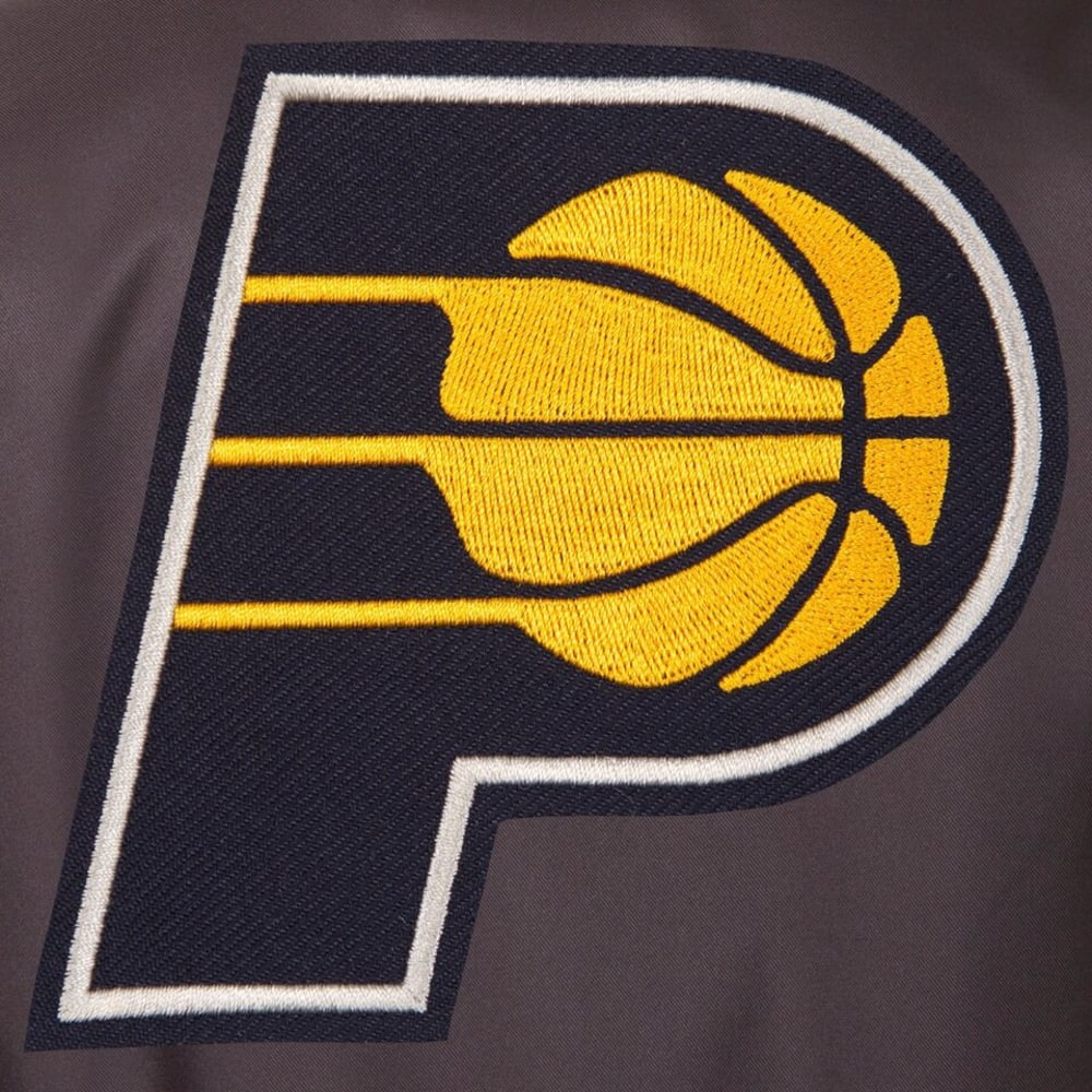 INDIANA PACERS Men's Poly Twill Embroidered Jacket - CHARCOAL