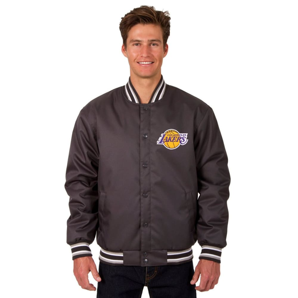 LOS ANGELES LAKERS Men's Poly Twill Embroidered Jacket - CHARCOAL