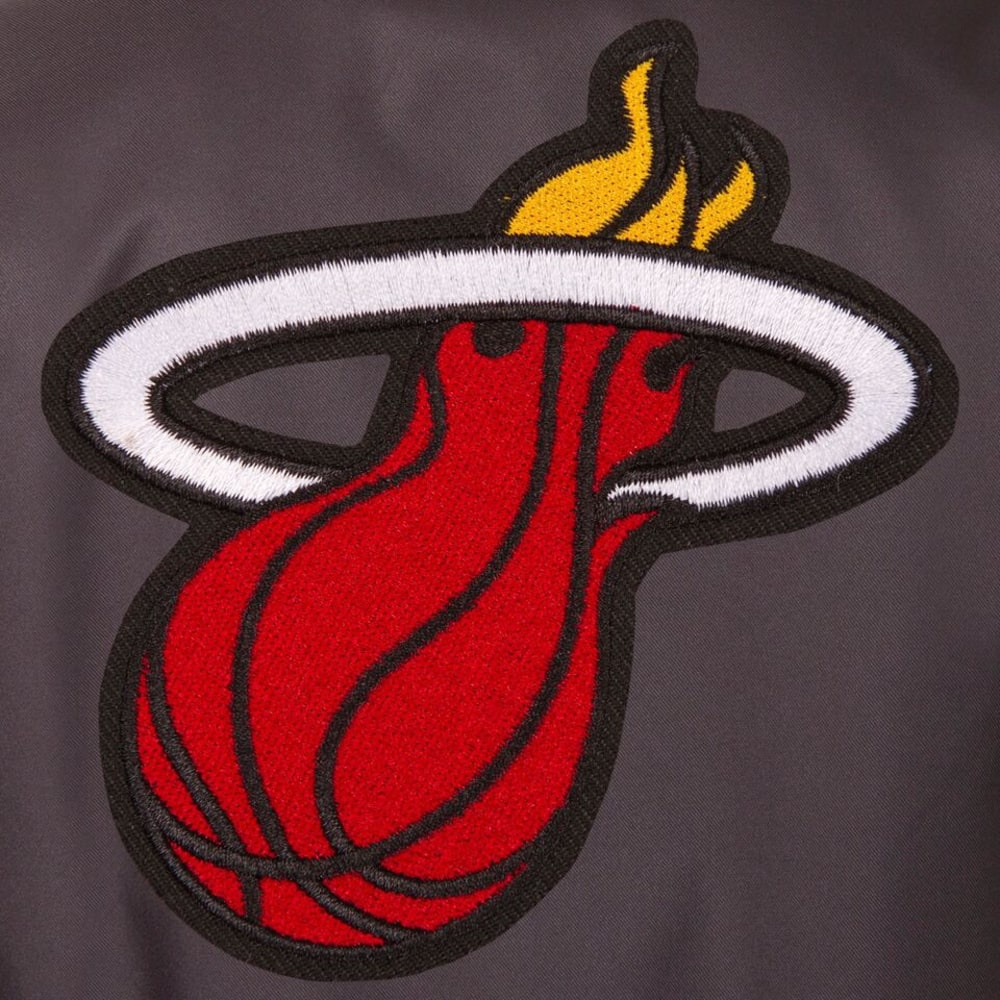 MIAMI HEAT Men's Poly Twill Embroidered Jacket - CHARCOAL