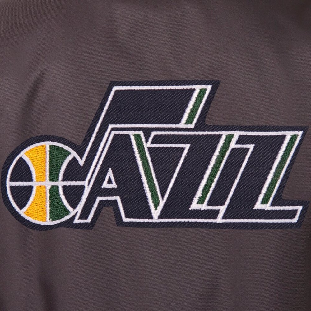 UTAH JAZZ Men's Poly Twill Embroidered Jacket - CHARCOAL