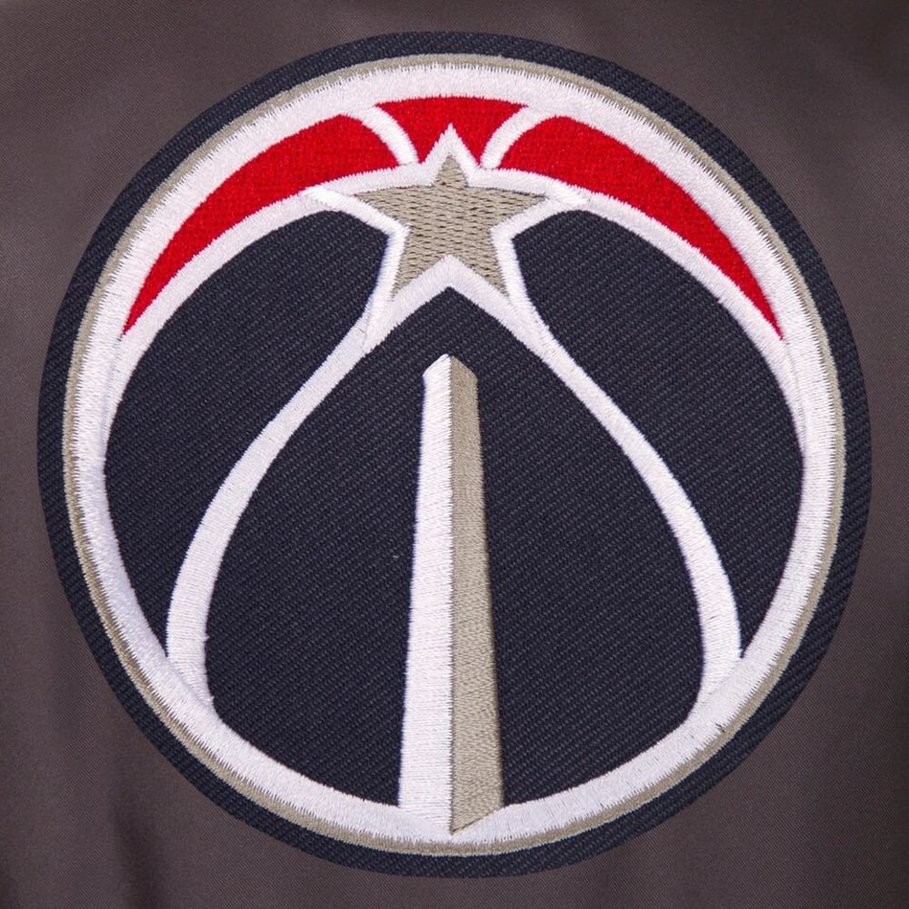 WASHINGTON WIZARDS Men's Poly Twill Embroidered Jacket - CHARCOAL