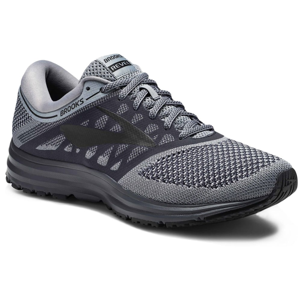 BROOKS Men's Revel Running Shoes, Grey - GREY-089