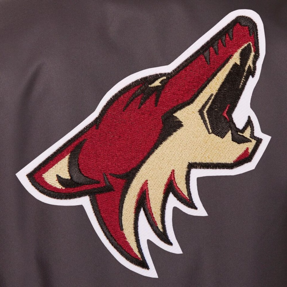 ARIZONA COYOTES Men's Poly Twill Embroidered Jacket - CHARCOAL