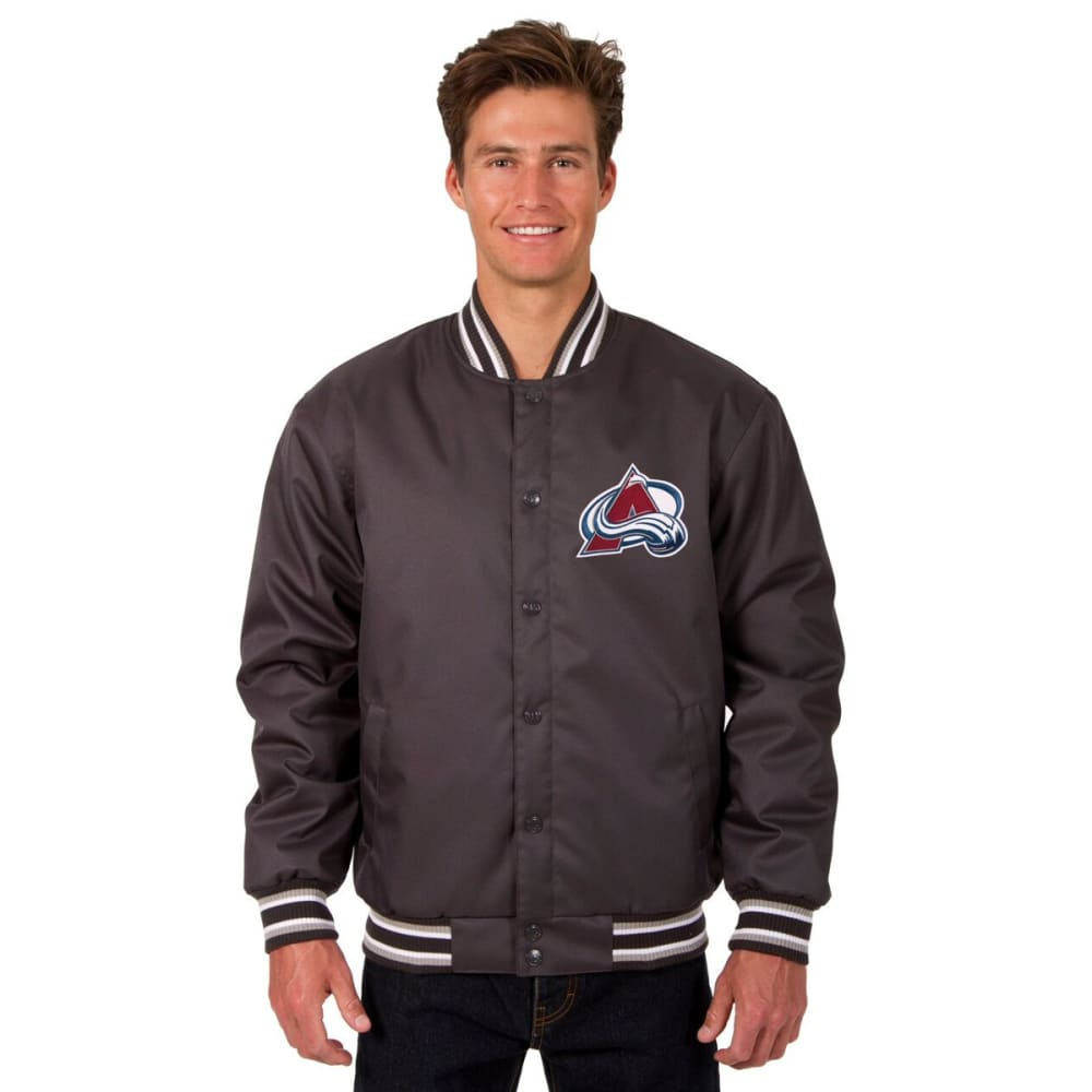 COLORADO AVALANCHE Men's Poly Twill Embroidered Jacket - CHARCOAL
