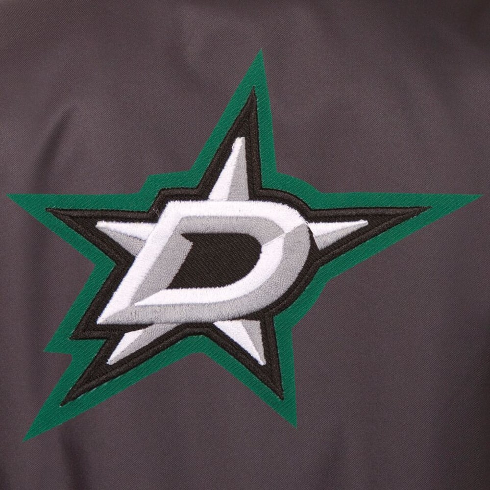 DALLAS STARS Men's Poly Twill Embroidered Jacket - CHARCOAL