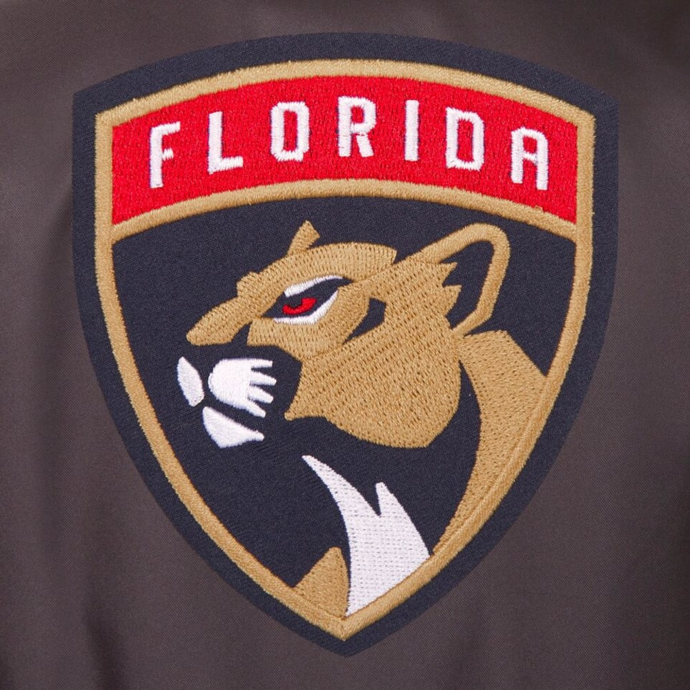 FLORIDA PANTHERS Men's Poly Twill Embroidered Jacket - CHARCOAL