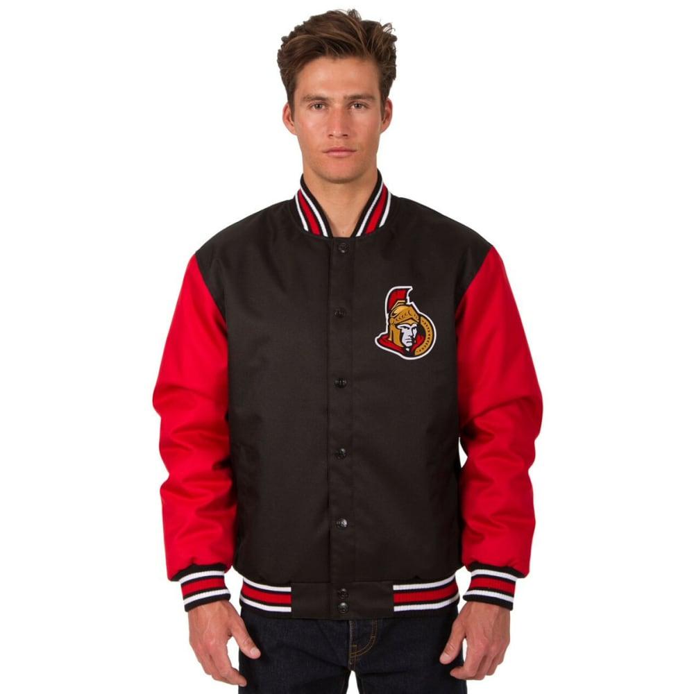 OTTAWA SENATORS Men's Poly Twill Embroidered Jacket - BLACK-RED