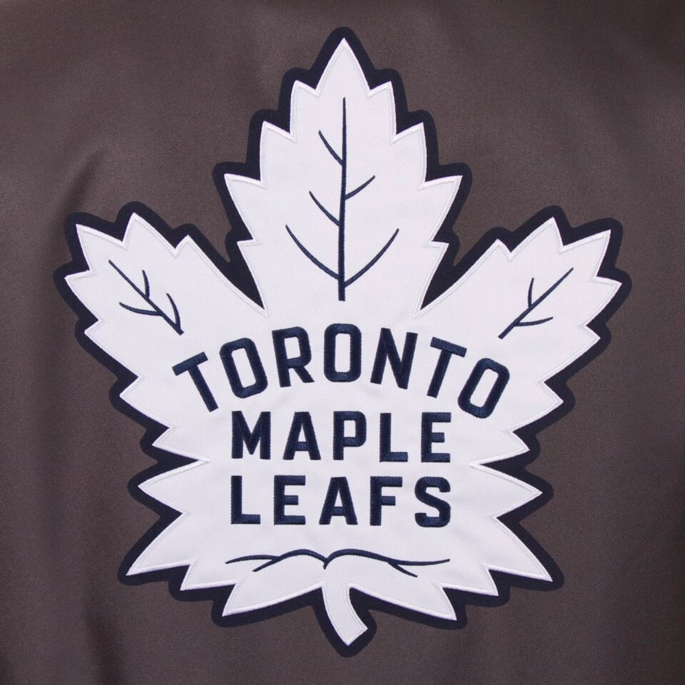 TORONTO MAPLE LEAFS Men's Poly Twill Embroidered Jacket - CHARCOAL