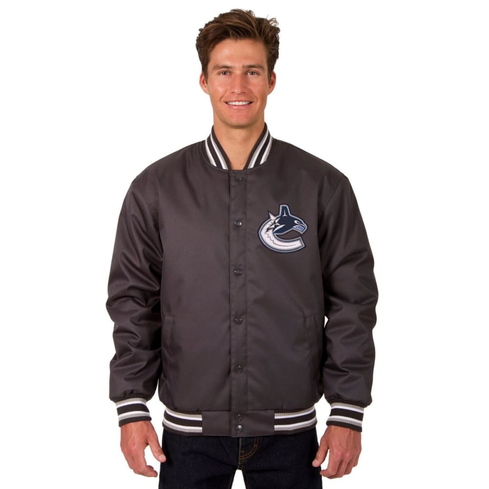 VANCOUVER CANUCKS Men's Poly Twill Embroidered Jacket - CHARCOAL