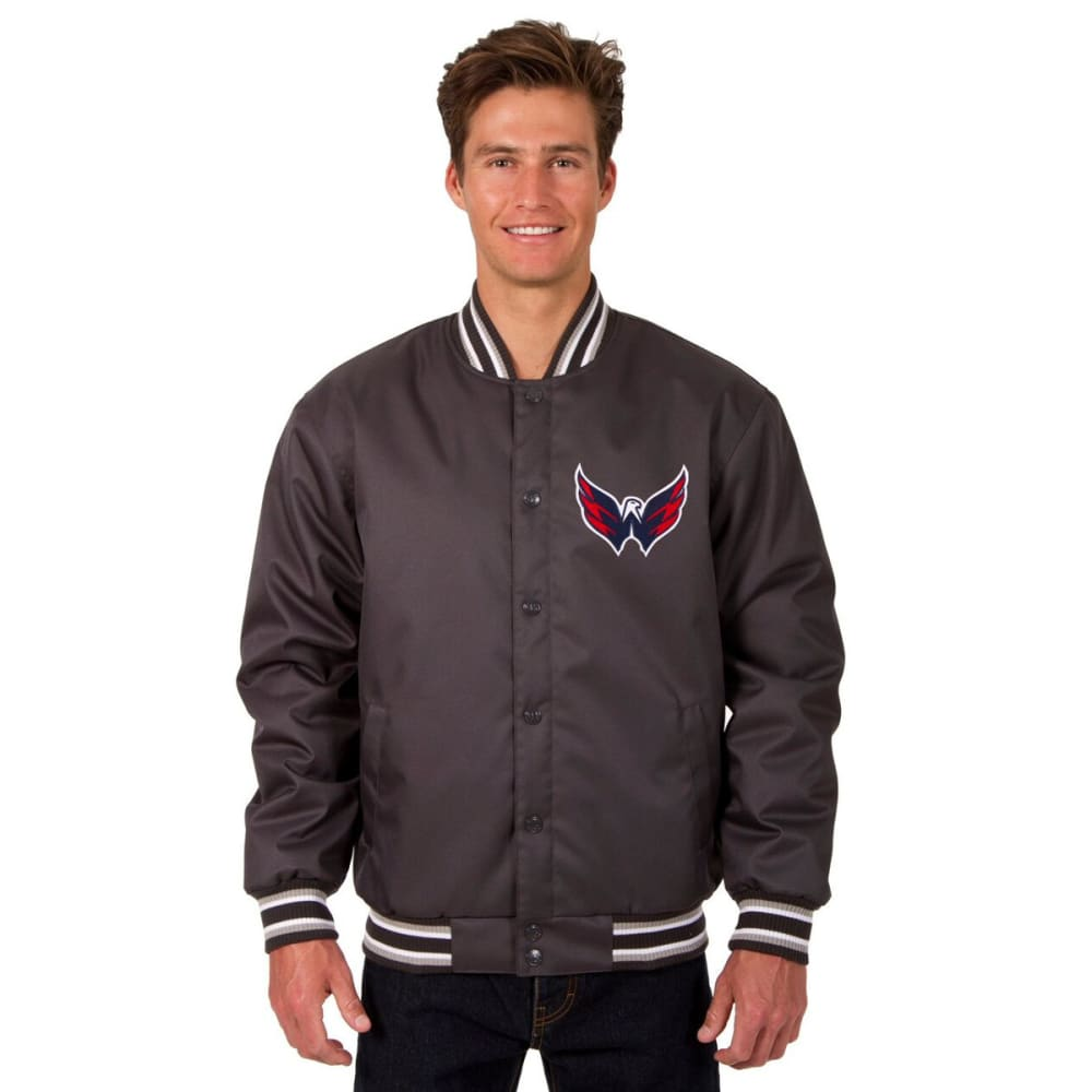 WASHINGTON CAPITALS Men's Poly Twill Embroidered Jacket - CHARCOAL