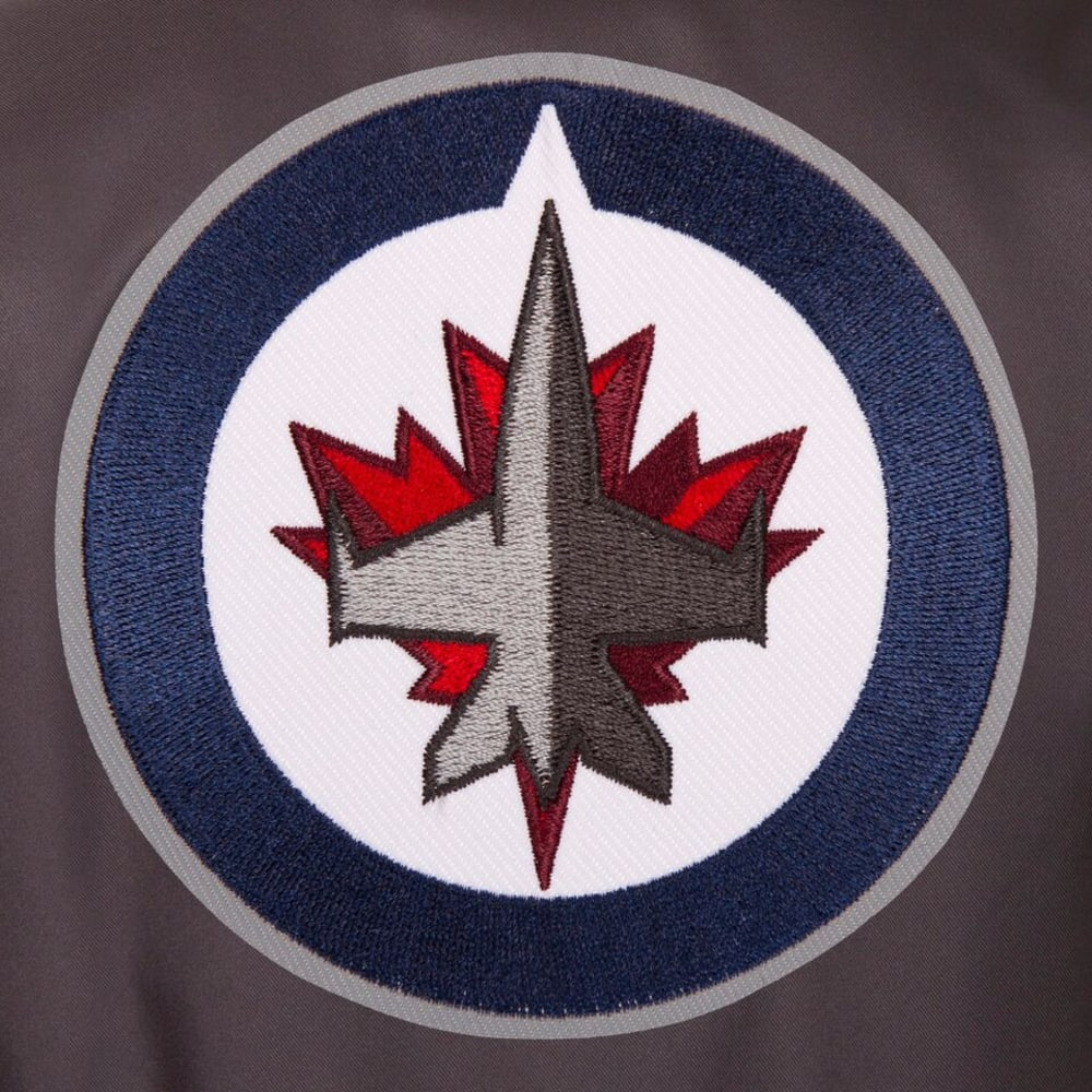 WINNIPEG JETS Men's Poly Twill Embroidered Jacket - CHARCOAL