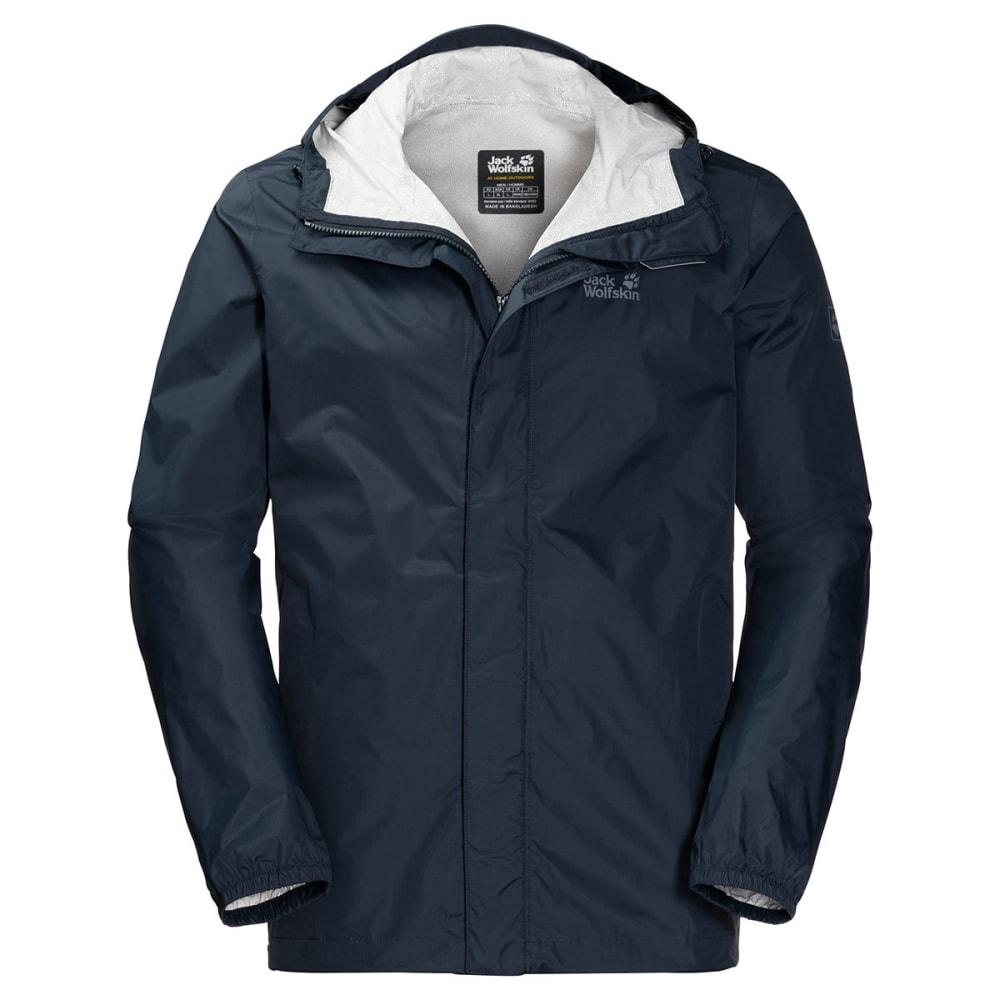 JACK WOLFSKIN Men's Cloudburst Hardshell Jacket - 1010 NIGHT BLUE