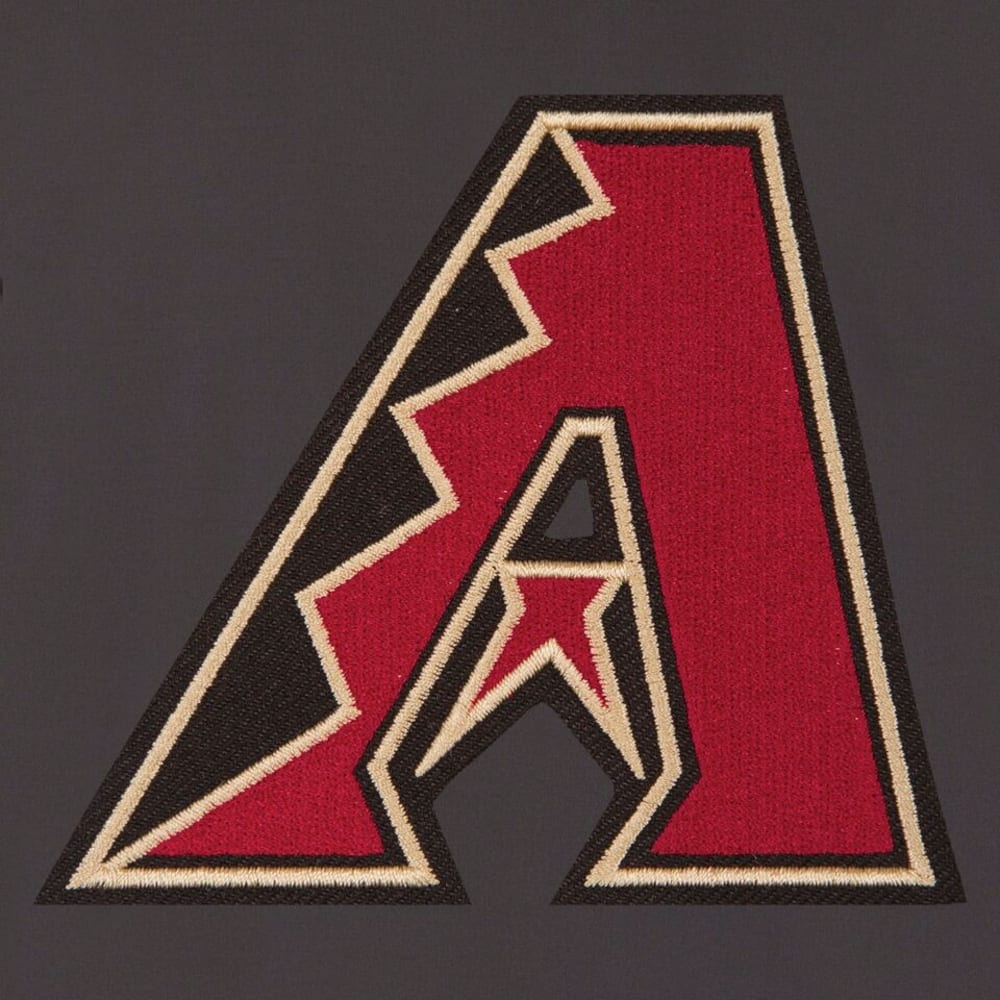 ARIZONA DIAMONDBACKS Men's Reversible Embroidered Track Jacket - SLATE GRAY