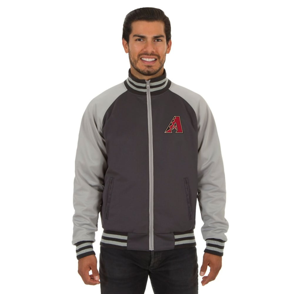 ARIZONA DIAMONDBACKS Men's Reversible Embroidered Track Jacket - SLATE GRAY