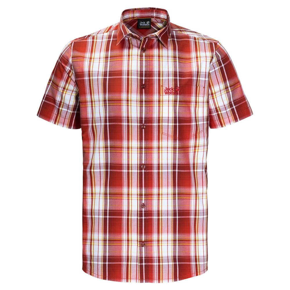 JACK WOLFSKIN Men's Hot Chili Short-Sleeve Shirt - 7961 VOLCANO RED CHE