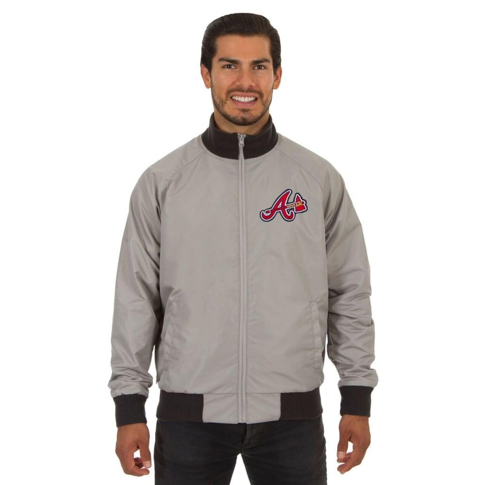 ATLANTA BRAVES Men's Reversible Embroidered Track Jacket - SLATE GRAY